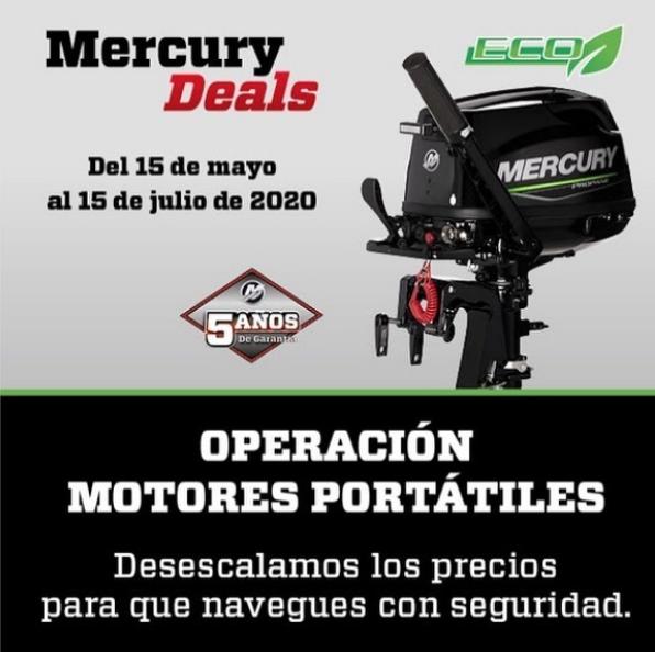 Desescalamos precios en motores portátiles Mercury