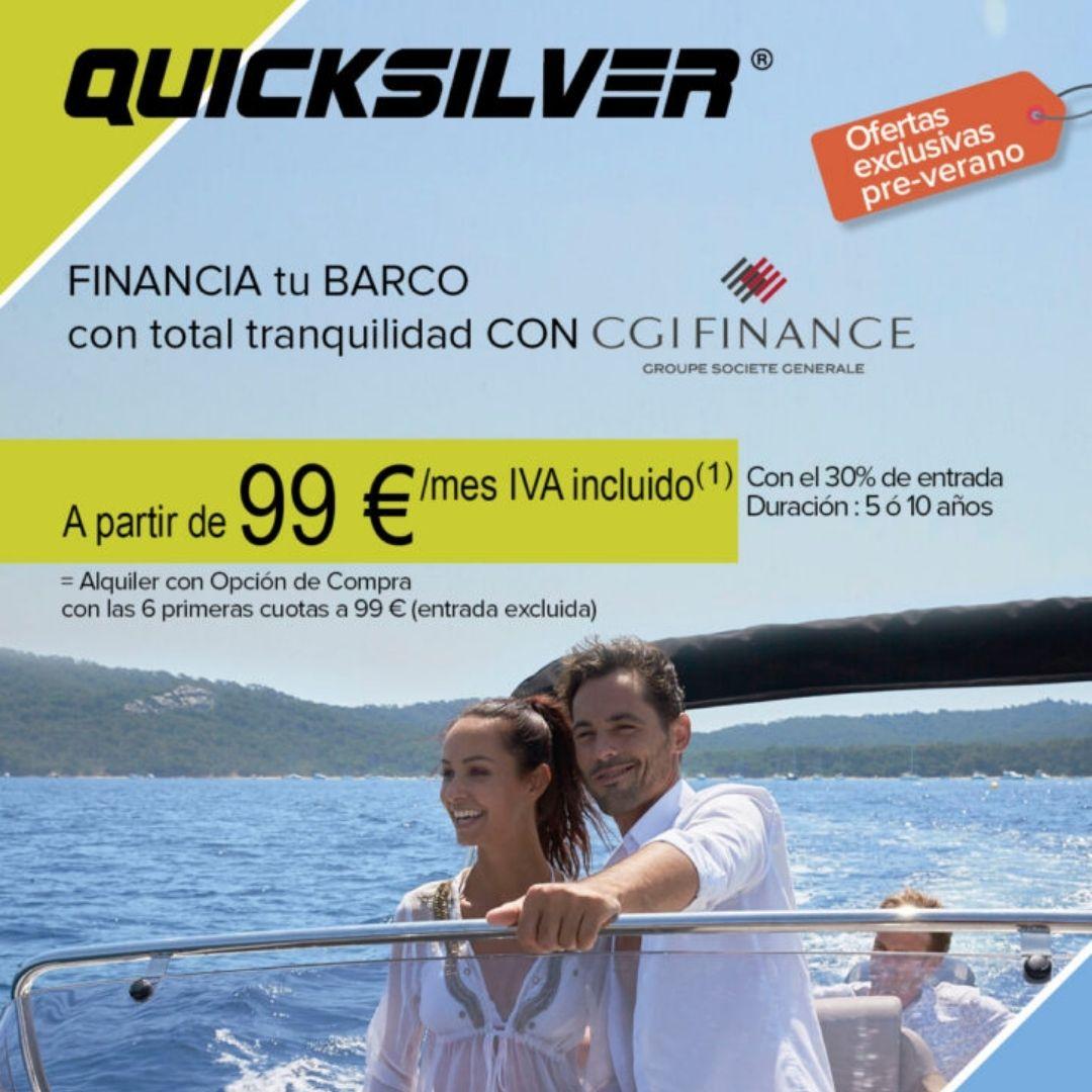 Súper oferta de leasing para tu nueva Quicksilver