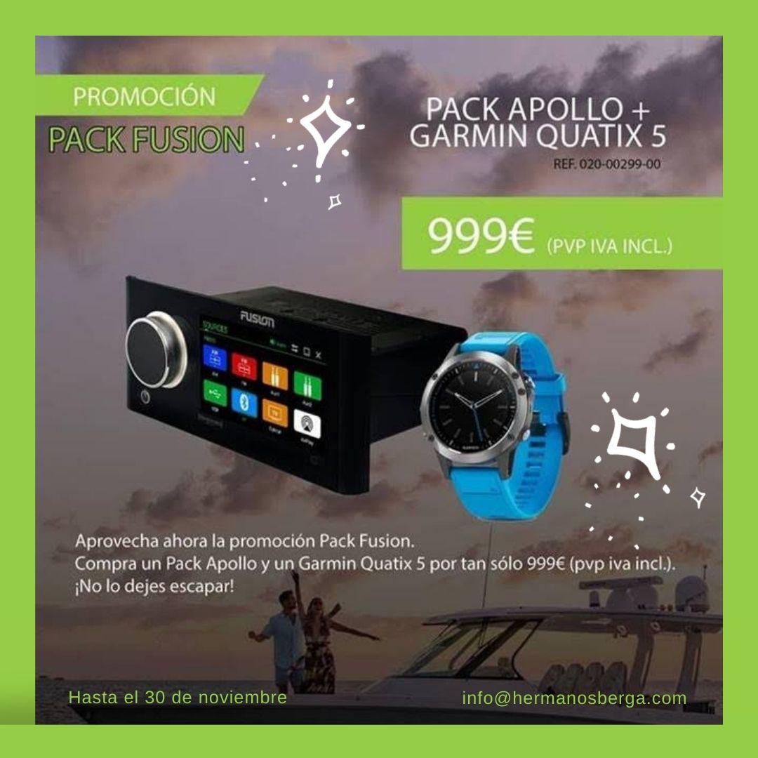 Promoción PACK FUSION: con el Pack Apollo y Garmin Quatix 5